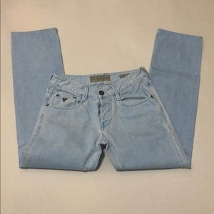 Vintage Guess Vermont Slim Tapered Baby Blue jeans